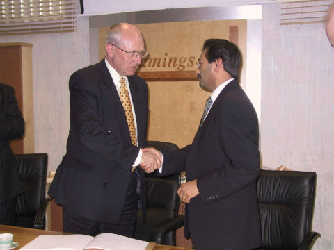 ICAEW President Visit in 2002.
